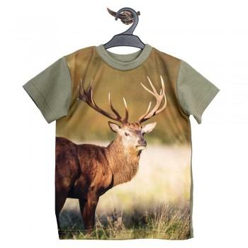 T-shirt z jeleniem